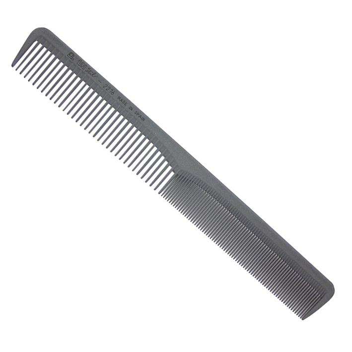 Pieptene de păr de carbon Barber 19,5 sm