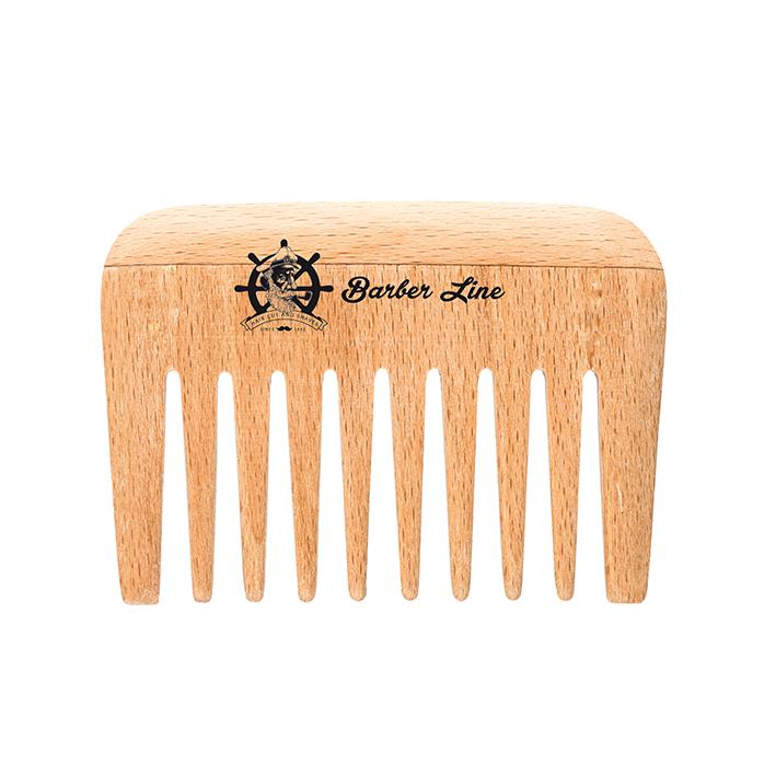 Расческа деревянная для бороды и усов