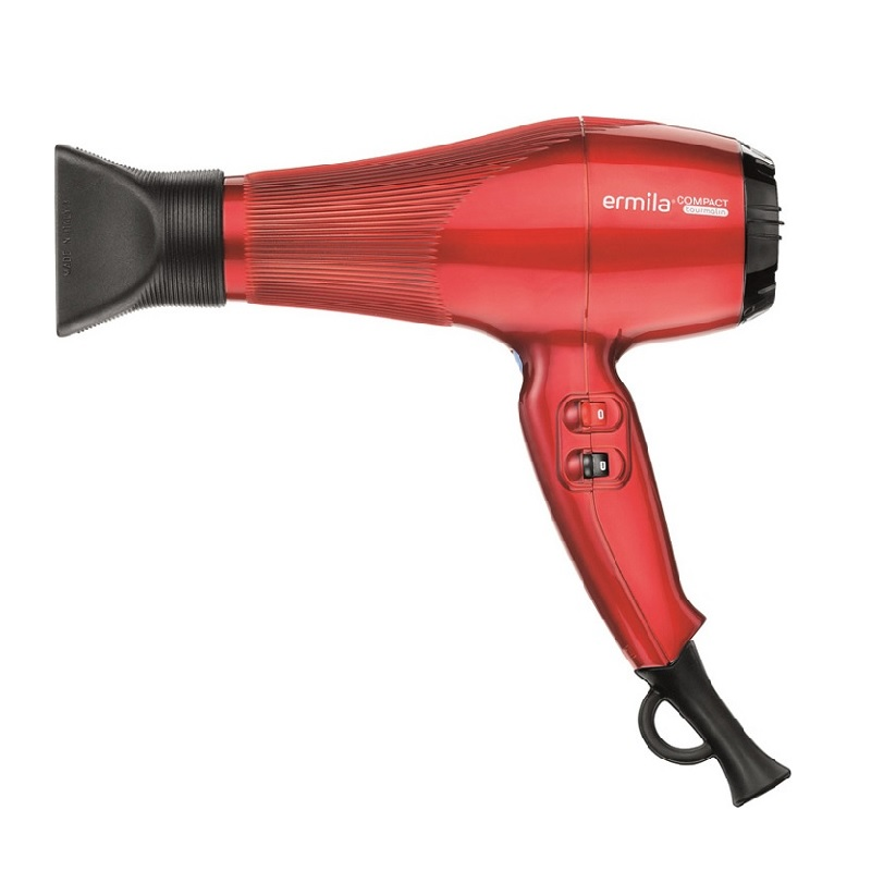 Фен Compact красный с турмалином 2000w
