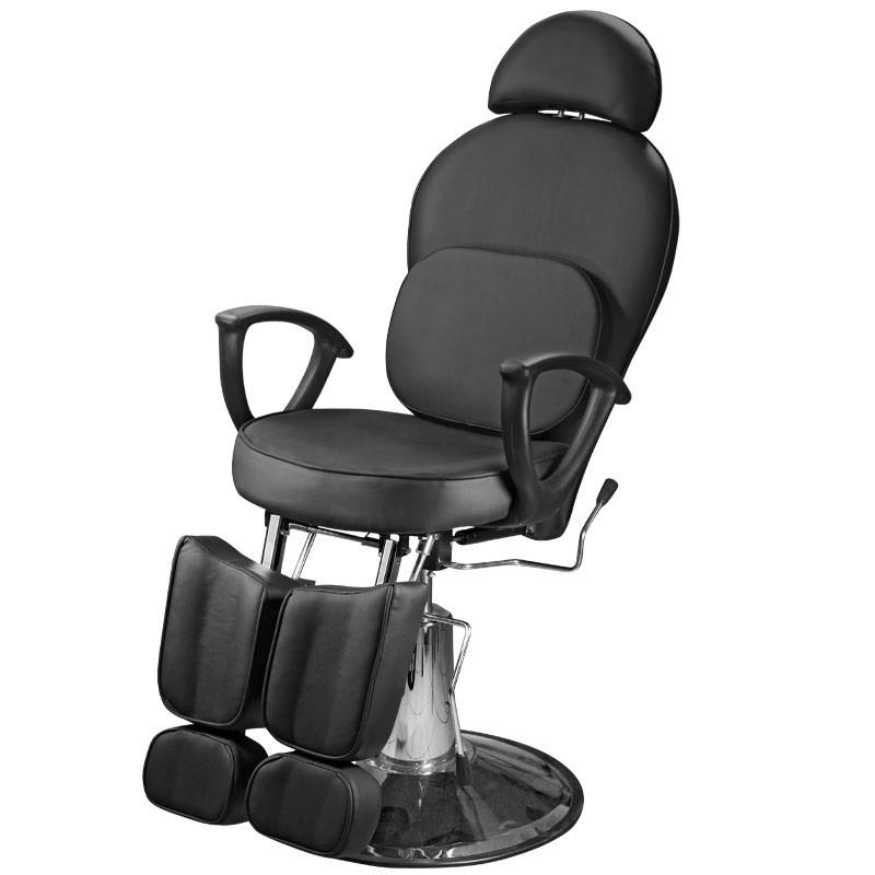 Кресло педикюрное c 2-мя поднимающимися подножками черный