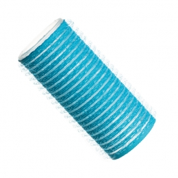 Бигуди на липучке D 28 мм голубые
