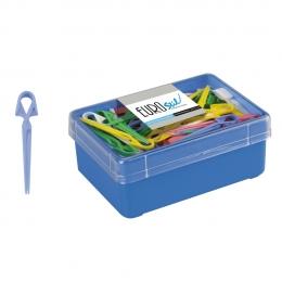Зажим усик для прядей цветной пластиковый 5см (60шт/уп)