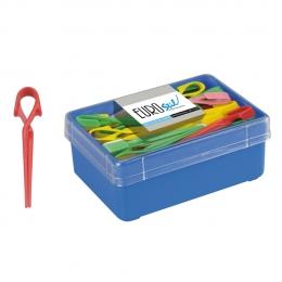 Зажим усик для прядей цветной пластиковый (60шт/уп)