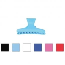 Зажим цветной пластиковый большой (6 шт)