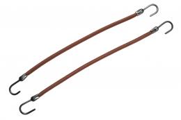 Резинка коричневая с крючком для прически