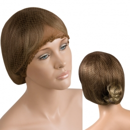 Boneta-plasa pentru aranjarea părului maro
