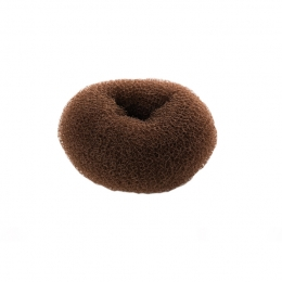 Валик для причесок коричневый круглый 35 мм