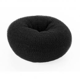 Валик для причесок черный круглый 65 мм
