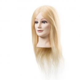 Голова-манекен блонд натуральные волосы 45-50 см