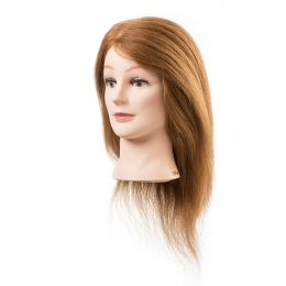 Голова-манекен блонд натуральные волосы 35-40 см
