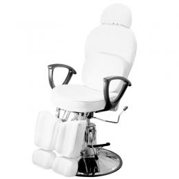 Кресло педикюрное c 2-мя поднимающимися подножками белое