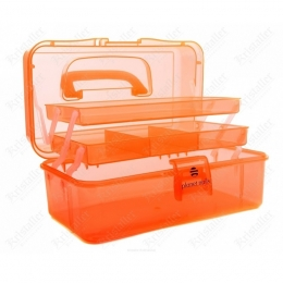 Контейнер пластиковый с отделениями оранжевый
