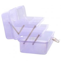 Контейнер пластиковый с отделениями фиолетовый