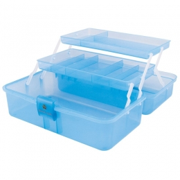 Контейнер пластиковый с отделениями голубой
